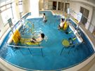 歩行プールと水中運動器具